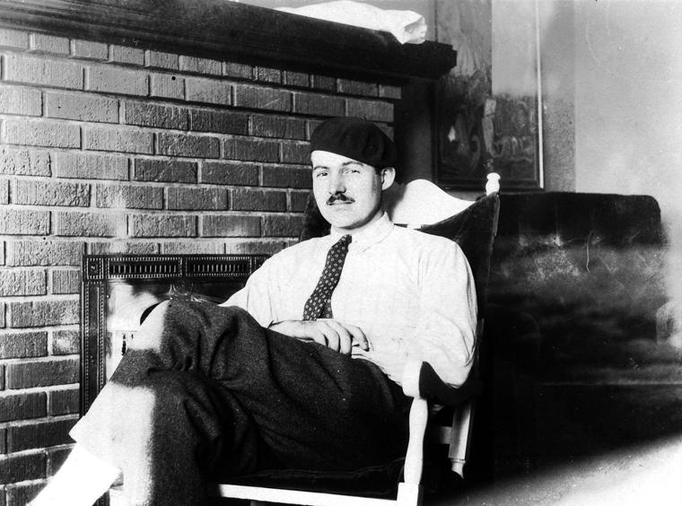 Ernest Hemingway in Paris 1924