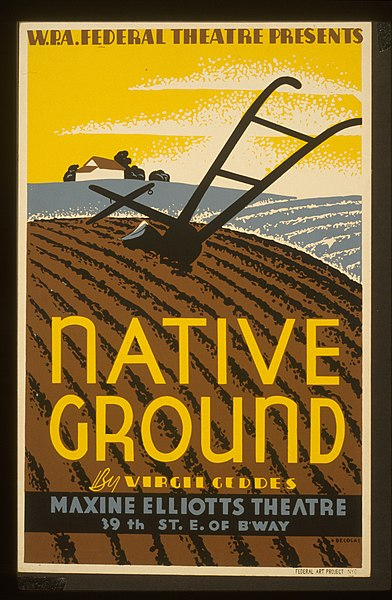 Poster for Virgil Geddes' Native Ground