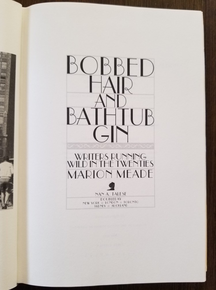 Title page of Marion Meade's Bobbed Hair and Bathtub Gin