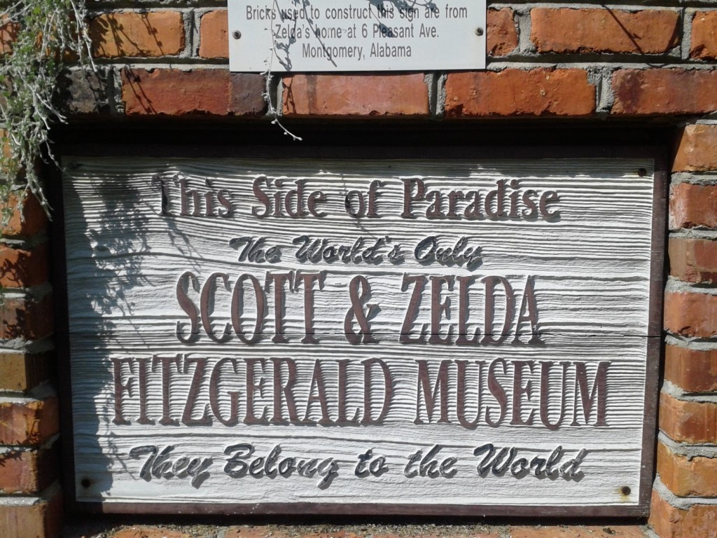 Sign in front of the Fitzgerald Museum