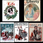 Christmas magazine covers from the 1920s