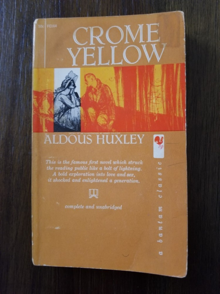 Front cover of Aldous Huxley's novel Crome Yellow
